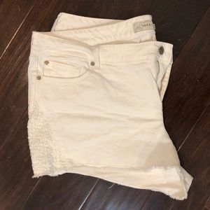 Torrid / white cutoff shorts